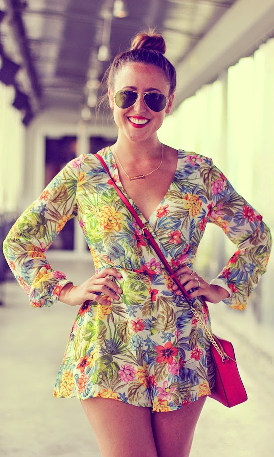 Here & Now Floral Romper