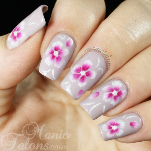 Manic Talons Nail Design One Stroke Nail Art At Last