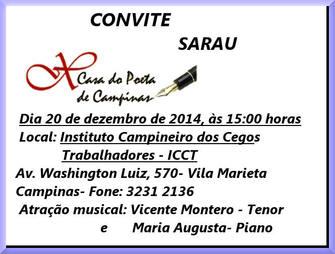 convite sarau dezembro