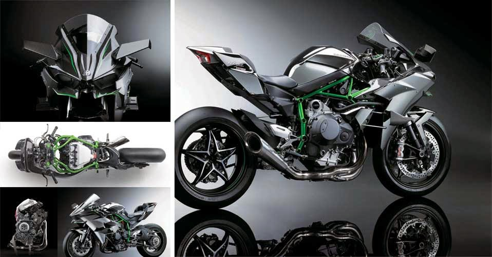 Kawasaki Ninja H2 And H2R Have Body Motor Sport Model So That It Looks Great Handsome Nice Uses Tralis Robust Steel Frame