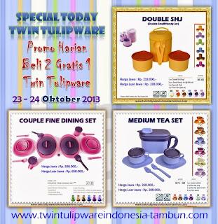 Promo Harian Tulipware, Special Today Tulipware, Promo Tulipware Oktober 2013