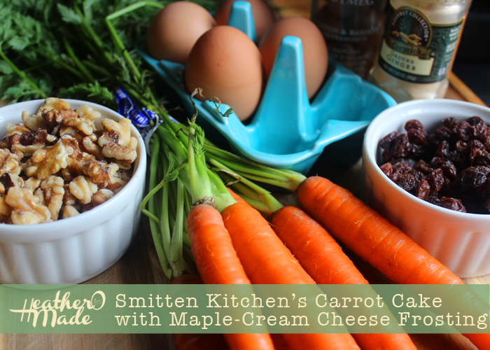 Heather O Made: Smitten Kitchen\'s Carrot Cake with Maple-Cream ...