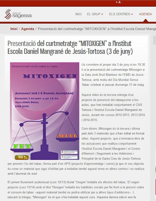 http://www.grupsagessa.cat/index.php?option=com_content&view=article&id=887:presentacio-del-curtmetratge-mitogen-projecte-de-prevencio-del-tabaquisme-del-cas-tortosa-i-iinstitut-escola-daniel-mangrane-de-jesus-tortosa-3-de-juny&catid=5:agenda&Itemid=174