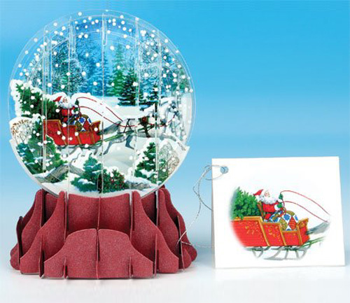 3d Snow Globe Christmas Cards