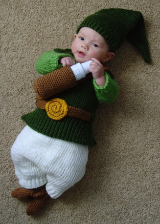 Baby Zelda Knitting Pattern : A Gamers Wife: Baby Link Costume from Legend of Zelda