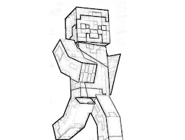 Minecraft Steve Coloring Pages Characters