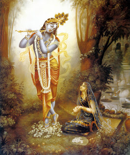 Krishna and His devotee
