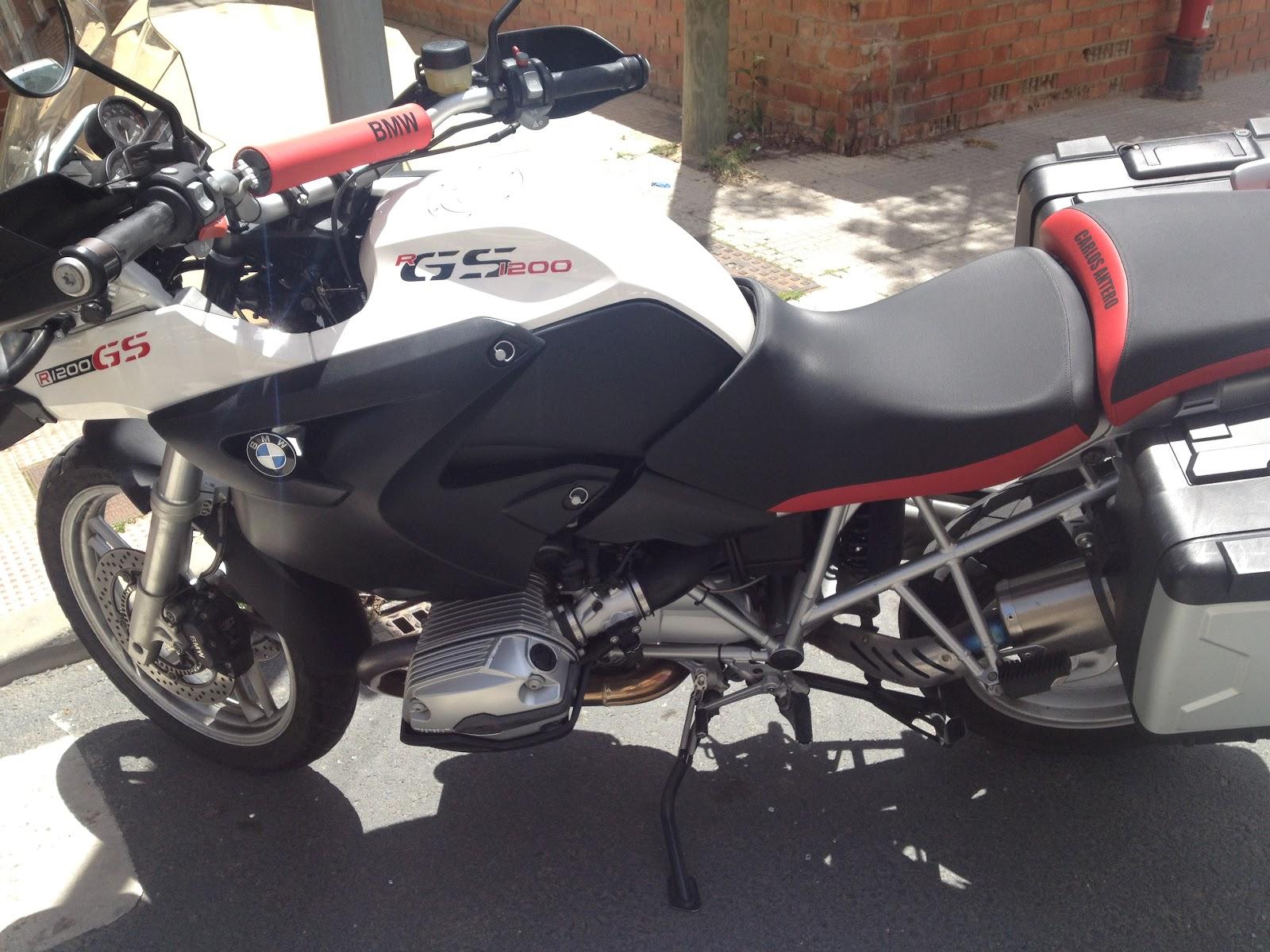 tapizado de una bmw r 1200 gs tapizar asiento moto en