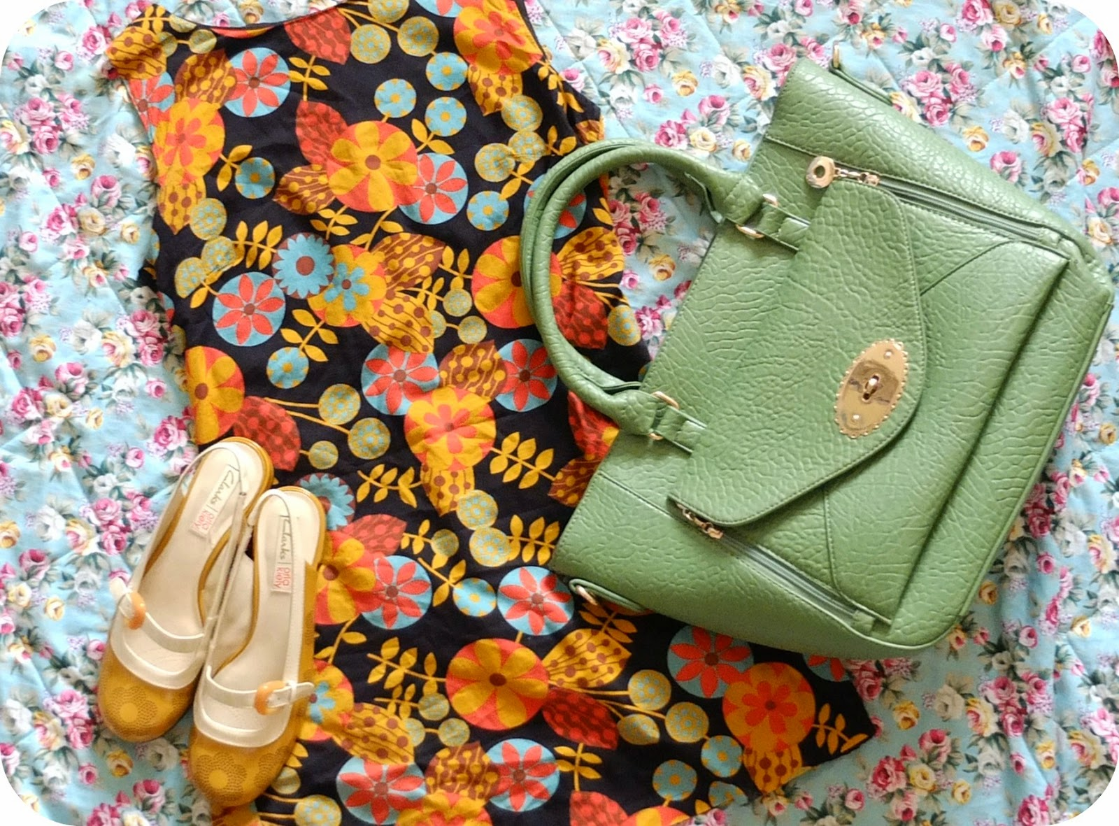Sixties Style on Hello Terri Lowe Blog: Orla Kiely Clarks Shoes x Primark x Mulberry Style Bag