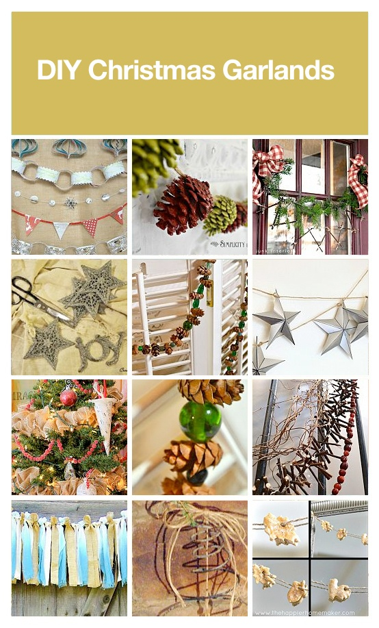 DIY Christmas garlands, curated by Leah via HomeTalk