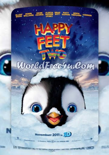 Poster Of Hollywood Movie Happy Feet Two (2011) Full Movie Free Download At worldfree4u.com