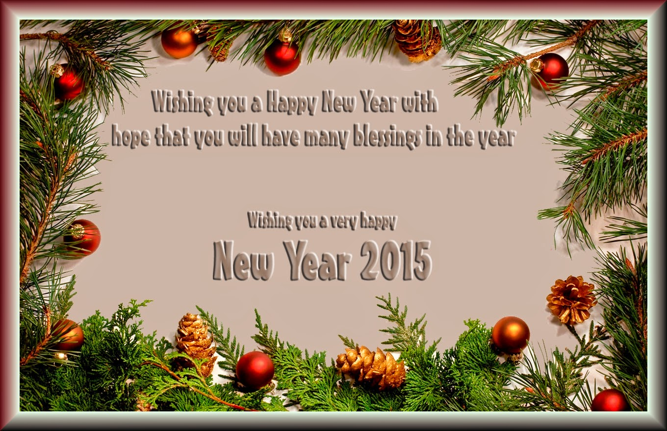 Beautiful Happy New Year Greetings 2015 eCards