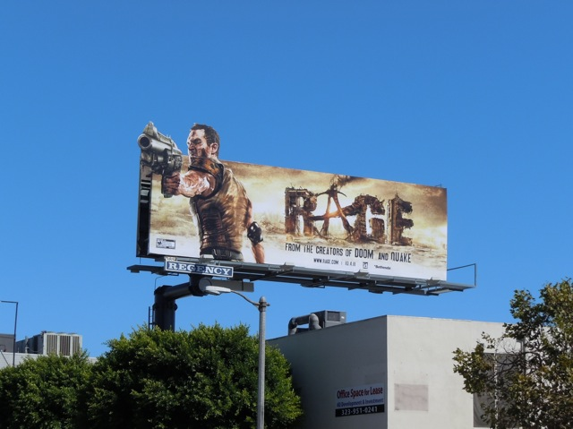 Rage video game billboard