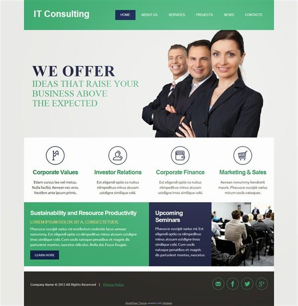 IT Consulting - Free Wordpress Theme