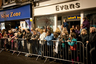 Ques in Truro waiting for the Christmas light switch on