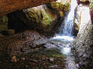 Pacific Coast Highway waterfalls, the Grotto Waterfall in Malibu, Malibu cave