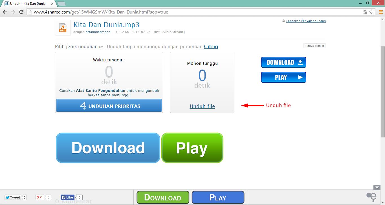 Cara Download File di 4shared.com 5
