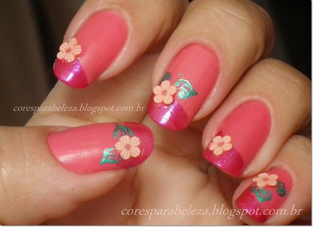 desafio das 31 unhas, flor nail art, cores para beleza