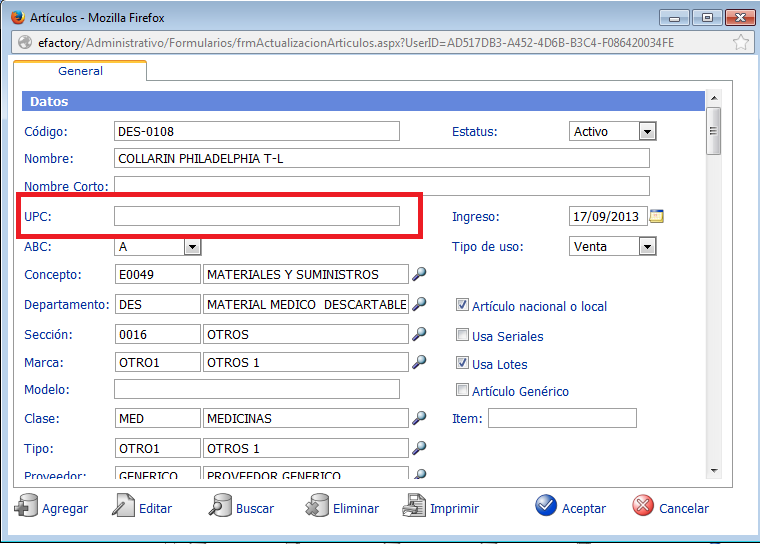 eFactory ERP/CRM Software Web para el Cloud Computing