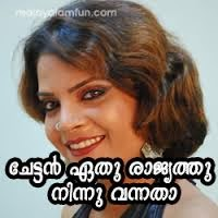 Chettan ethu rajyathithu ninnu vannatha Facebook Malayalam Photo Comments