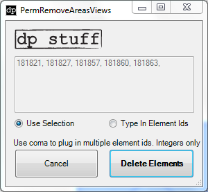 PermRemoveAreasViews Revit Addin API from dp Stuff
