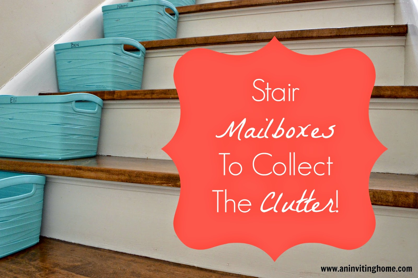 stair mailboxes to collect the clutter