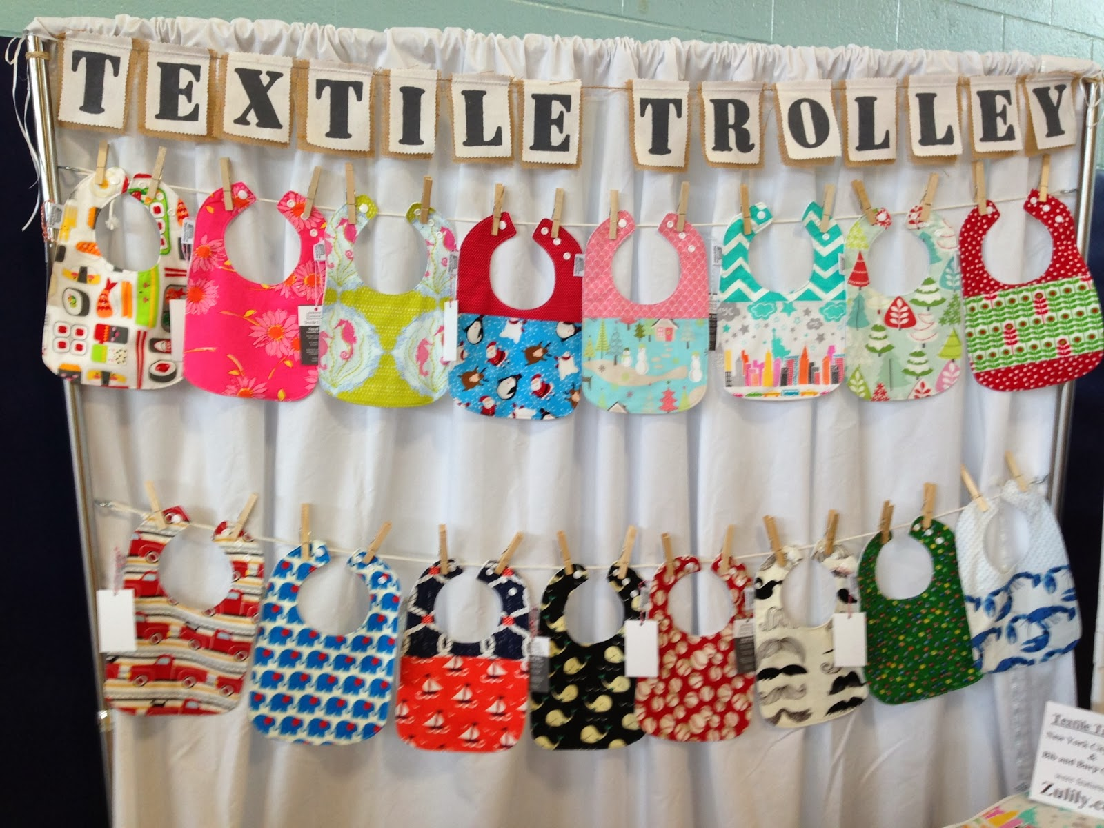 Textile trolley craft show display improvements for Hat display ideas for craft shows