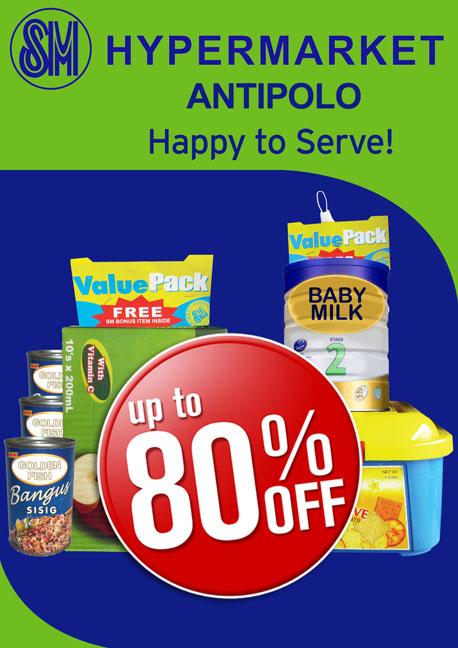 SM Hypermarket Antipolo Discounts