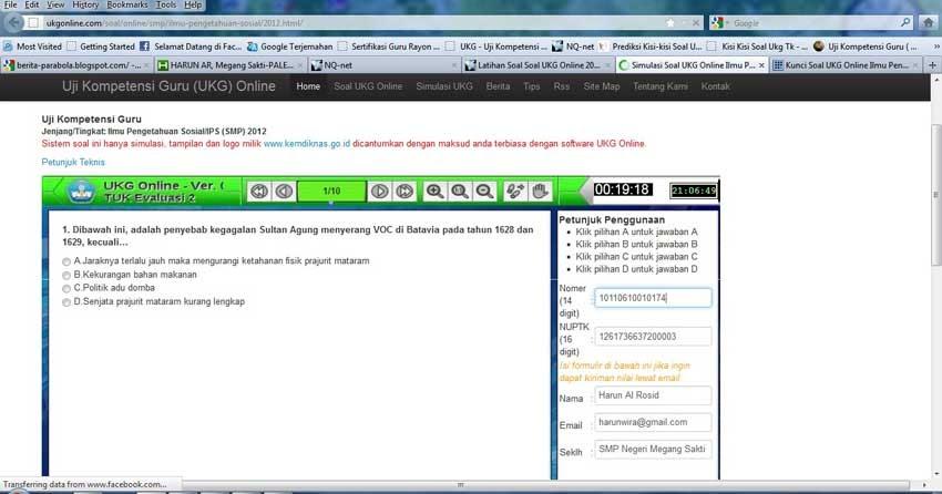 Contoh Soal Ukg Online Latihan Mengerjakan Soal Soal Ukg Online