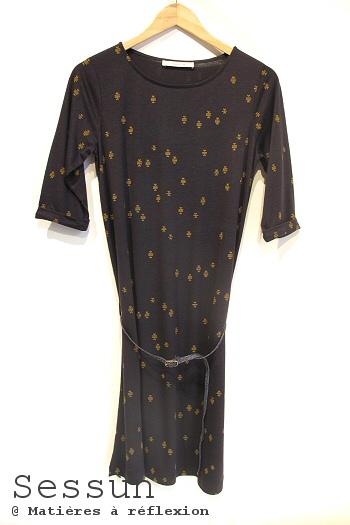 Robe coton bleu marine Sessun