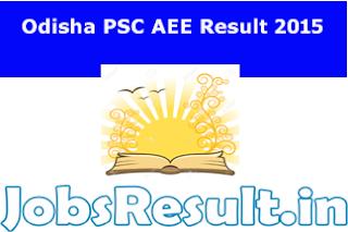Odisha PSC AEE Result 2015
