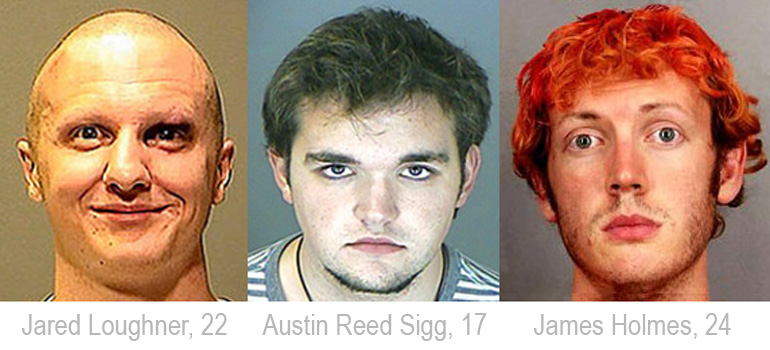 SOFTWARE SLAYERS: Jared Loughner, Austin Reed Sigg, James Holmes