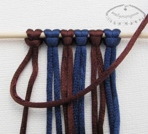 węzeł rypsowy - makrama - 3