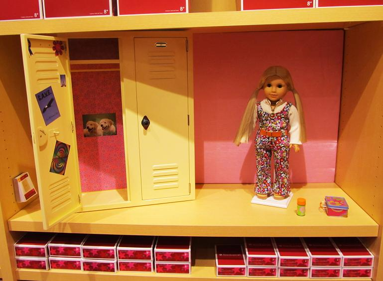 American Girl Tysons Corner. Maryland Pink and Green  American Girl Tysons Corner