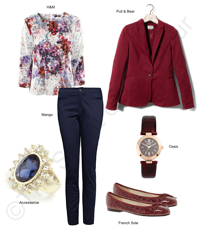 french sole shoes, accessorize ring, oasis watch, mango pants, mango trousers, pull and bear blazer, h&m top, h&m shirt, street style, style, beauty, fashion