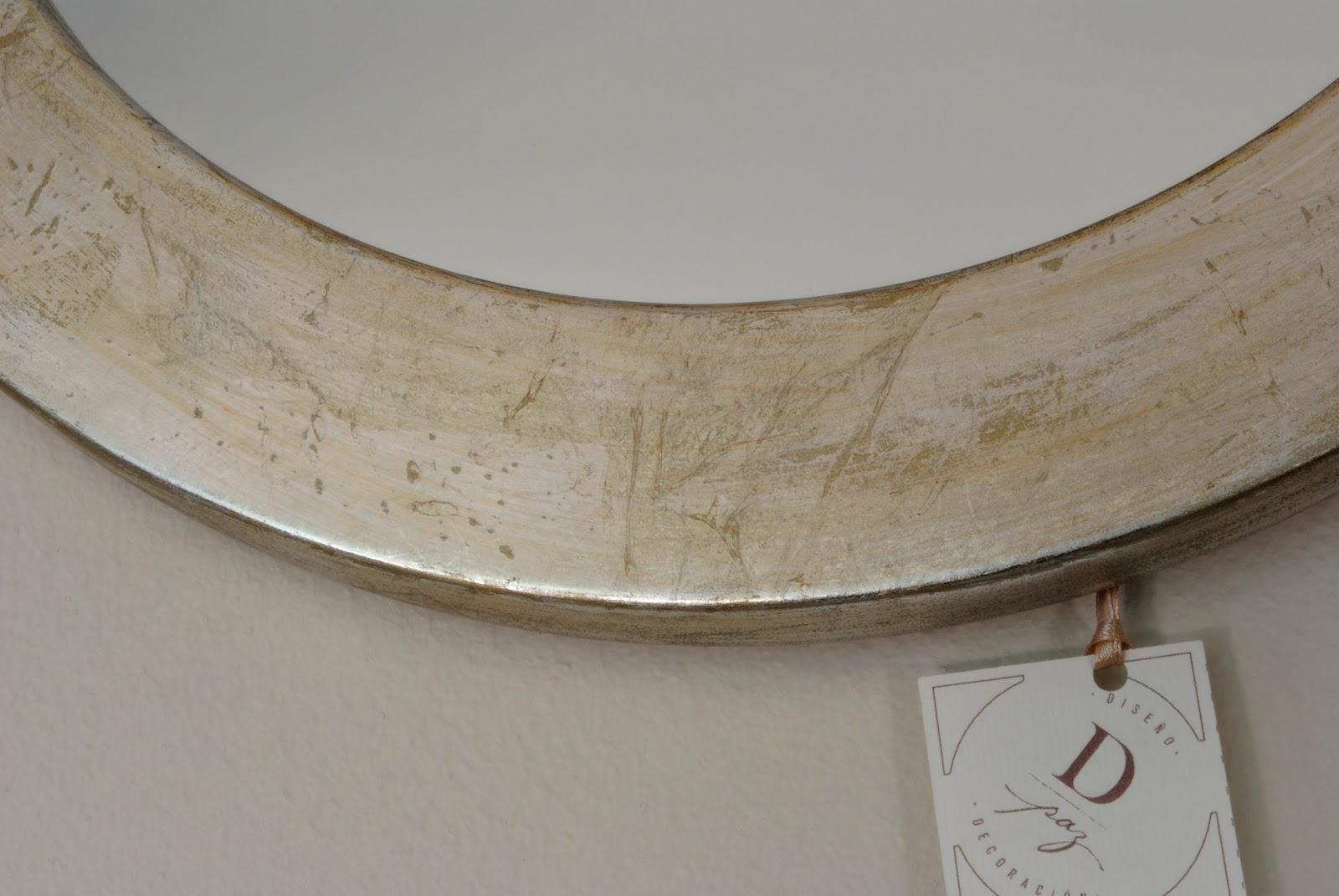 espejos laminados en color plata artesana excusiva hecha en chile redondo x ovalado x se pueden mandar a hacer en