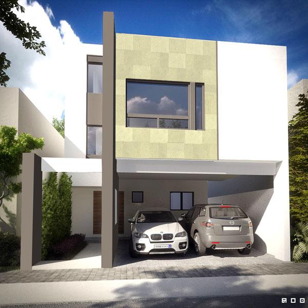 Fachadas contempor neas fachada contempor nea tipo c en - Tipos de fachadas ...