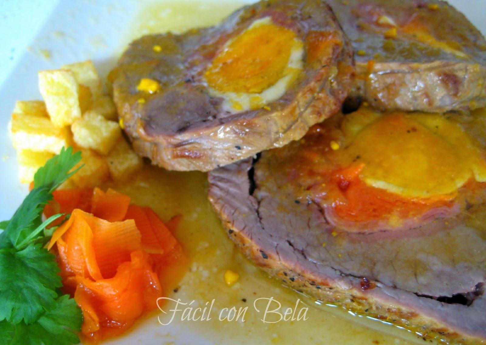 Recetas f cil con bela rollo de carne relleno - Salsa para relleno de carne ...