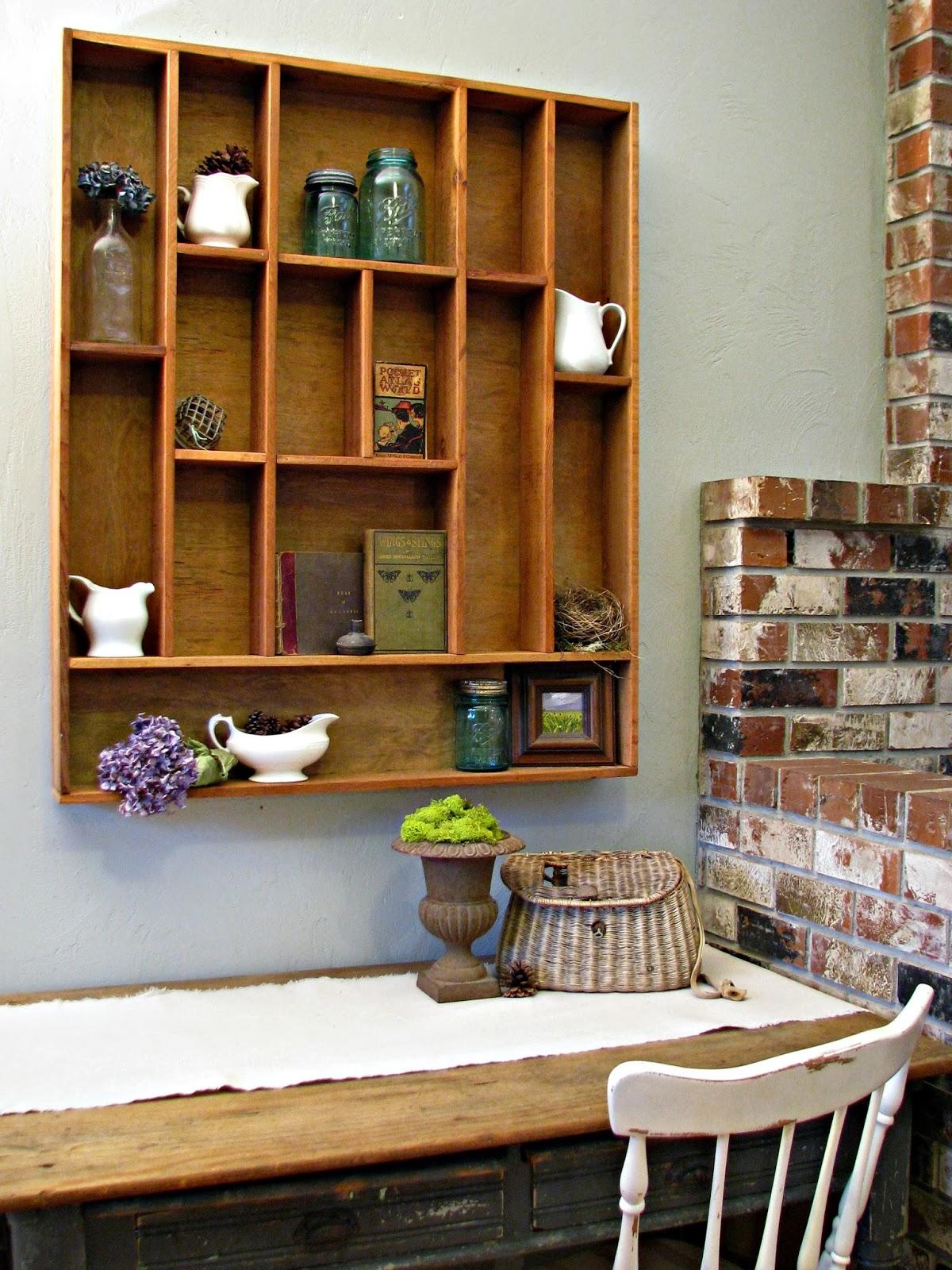 Blue Roof Cabin Diy Letterpress Tray Display Shelf Tutorial
