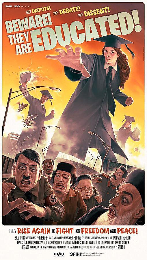 کارتون خمینی ، هیتلر ، قذافی ، استالین ، کیم جونگ ایل ، دانشجو ، وحشت