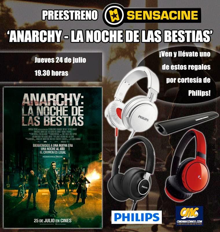 Cartel Sensacine.com Preestreno Anarchy: La Noche de las Bestias