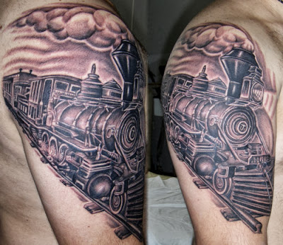Train Tattoo on arm