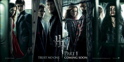 Harry Potter and the Deathly Hallows, Part 1 official movie poster.