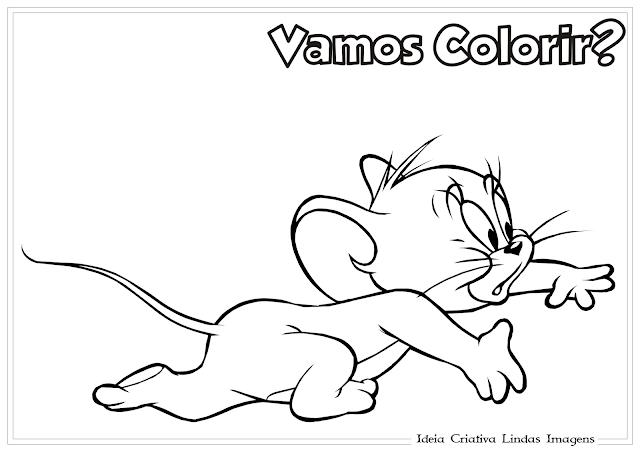 Tom e Jerry desenho para colorir