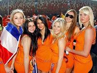 Euro 2012 girl supporter