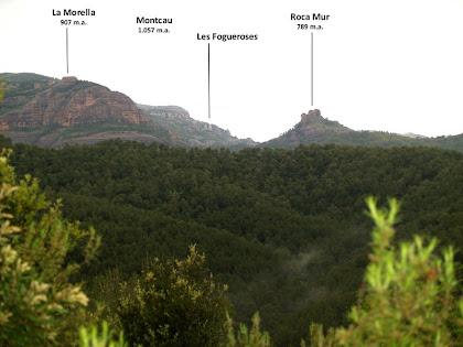 Panorama cap al nord-oest des de l'inici de la Carena de l'Illa