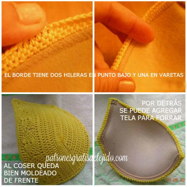 terminacion de corpiño crochet