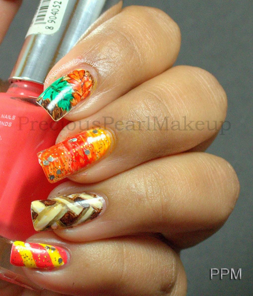 Thanksgiving Nails: Preciouspearlmakeup: Thanksgiving Nails