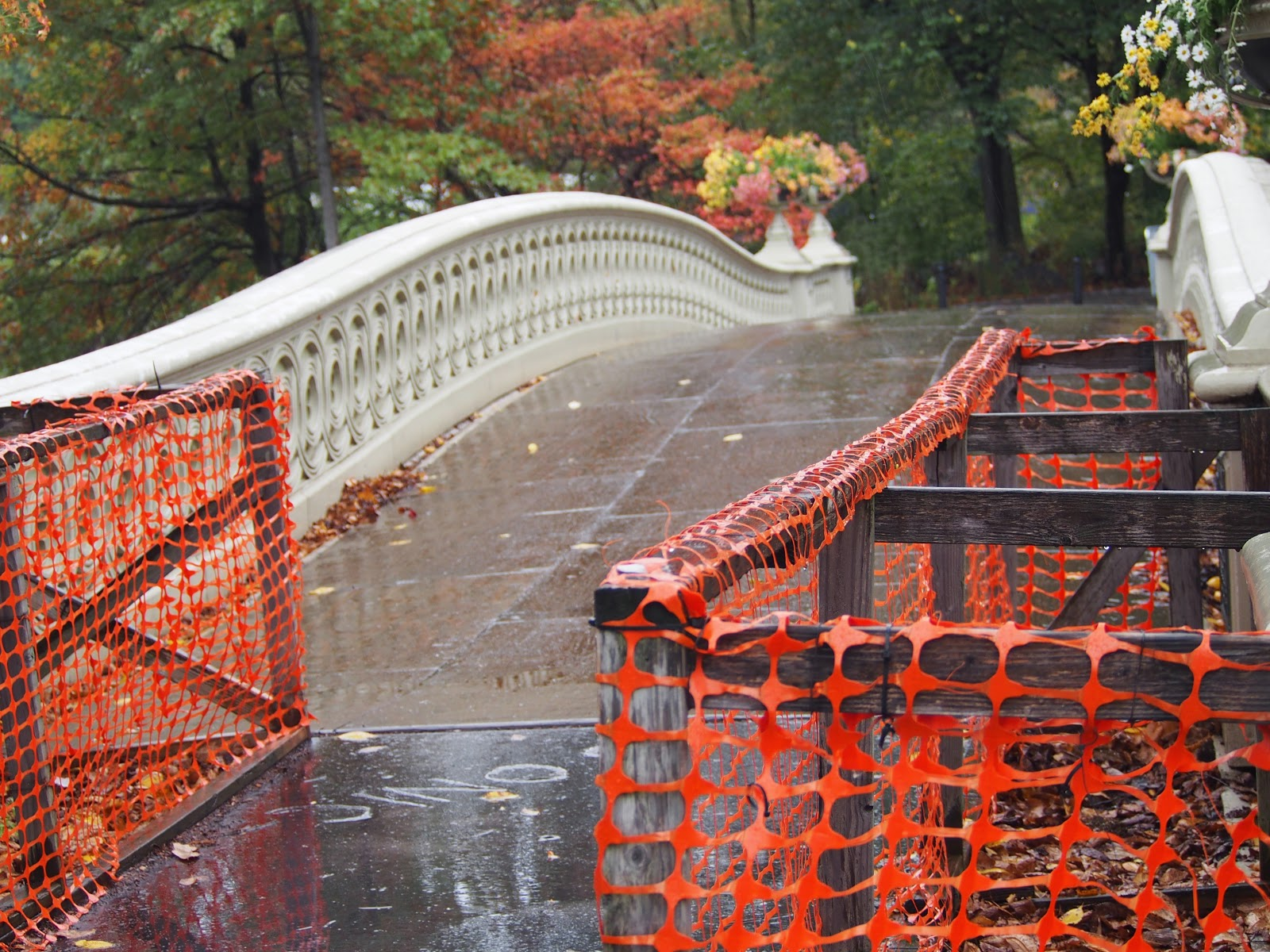 Empty Bridge, #emptybridge #bowbridge #centralpark #nyc #fall #fallfoliage #rainyday 2014