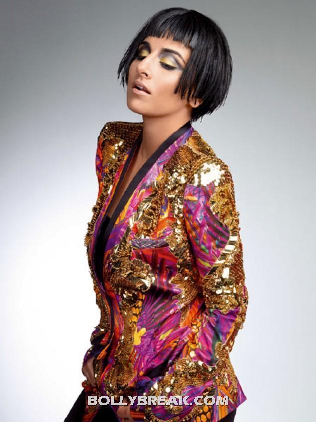 Vidya Balan short hair  - (4) -  Vidya Balan Harper's Bazaar March 2012